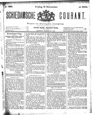 Schiedamsche Courant 1885-11-13
