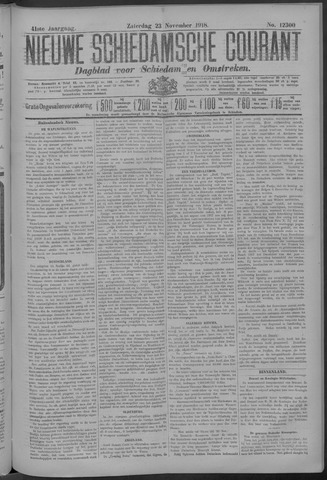 Nieuwe Schiedamsche Courant 1918-11-23