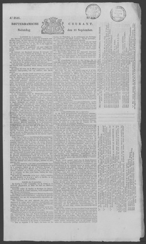 Rotterdamse Courant 1841-09-11