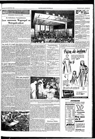 Rotterdamsch Nieuwsblad / Schiedamsche Courant / Rotterdams Dagblad / Waterweg / Algemeen Dagblad 1953-08-28