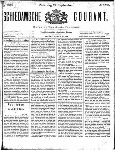 Schiedamsche Courant 1883-09-22