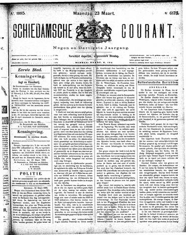 Schiedamsche Courant 1885-03-23
