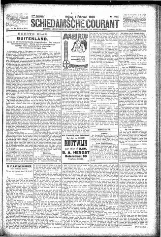 Schiedamsche Courant 1929-02-01