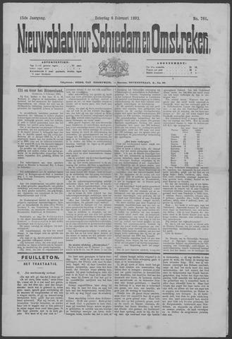 Nieuwsblad voor Schiedam en Omstreken 1892-02-06