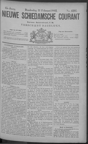 Nieuwe Schiedamsche Courant 1892-02-11