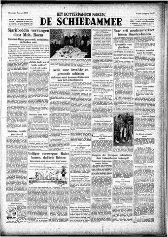 Rotterdamsch Parool / De Schiedammer 1948-02-02