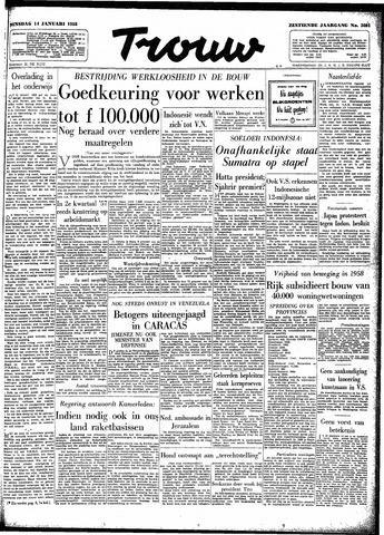 Trouw / De Rotterdammer 1958-01-14
