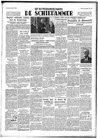 Rotterdamsch Parool / De Schiedammer 1948-04-13