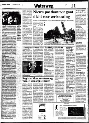 Rotterdamsch Nieuwsblad / Schiedamsche Courant / Rotterdams Dagblad / Waterweg / Algemeen Dagblad 1991-08-20