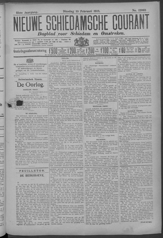 Nieuwe Schiedamsche Courant 1918-02-19