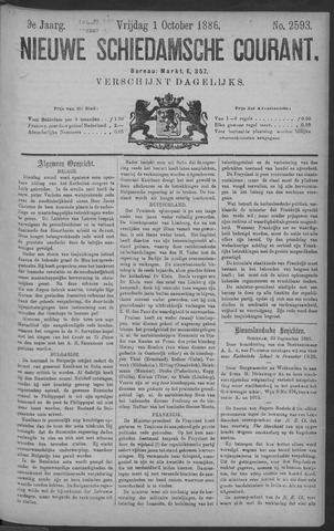 Nieuwe Schiedamsche Courant 1886-10-01