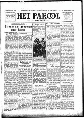 Rotterdamsch Parool / De Schiedammer 1945-09-07