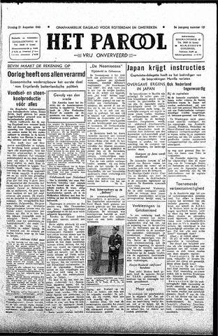 Rotterdamsch Parool / De Schiedammer 1945-08-21