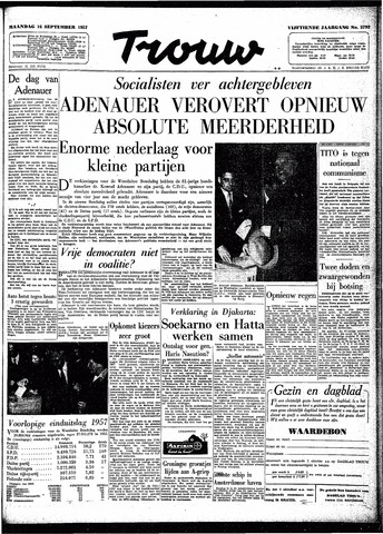 Trouw / De Rotterdammer 1957-09-16