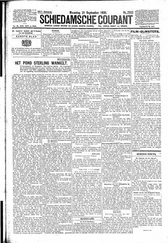 Schiedamsche Courant 1931-09-21