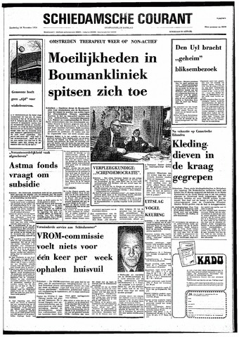 Rotterdamsch Nieuwsblad / Schiedamsche Courant / Rotterdams Dagblad / Waterweg / Algemeen Dagblad 1974-11-14