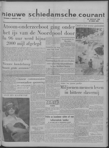 Nieuwe Schiedamsche Courant 1958-08-09