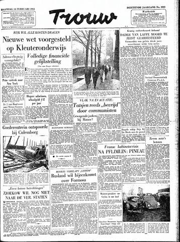 Trouw / De Rotterdammer 1955-02-14
