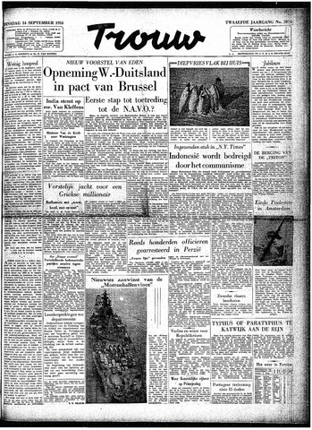 Trouw / De Rotterdammer 1954-09-14