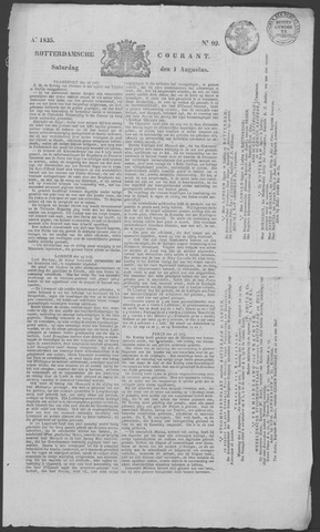 Rotterdamse Courant 1835-08-01