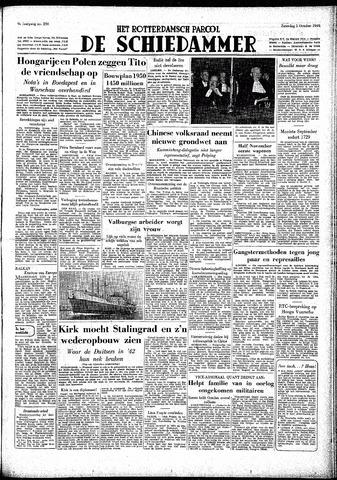 Rotterdamsch Parool / De Schiedammer 1949-10-01
