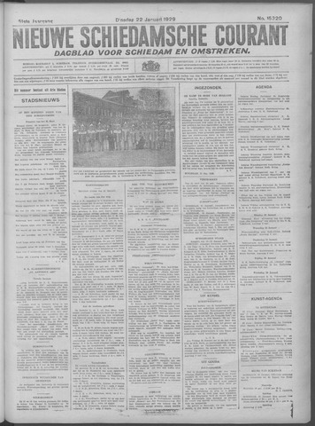 Nieuwe Schiedamsche Courant 1929-01-22