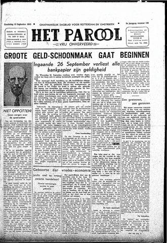 Rotterdamsch Parool / De Schiedammer 1945-09-13
