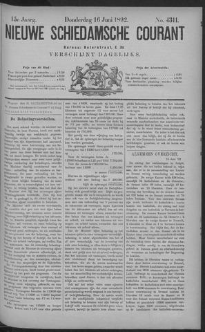 Nieuwe Schiedamsche Courant 1892-06-16