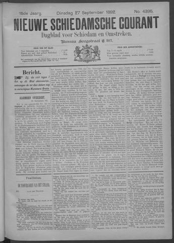 Nieuwe Schiedamsche Courant 1892-09-27
