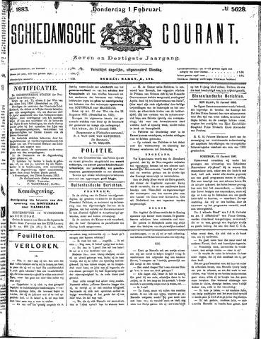 Schiedamsche Courant 1883-02-01