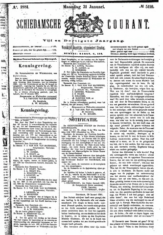 Schiedamsche Courant 1881-01-31