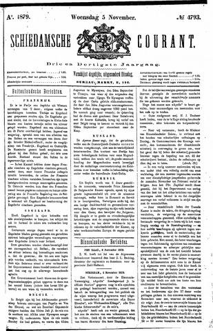 Schiedamsche Courant 1879-11-05