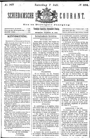 Schiedamsche Courant 1877-07-07