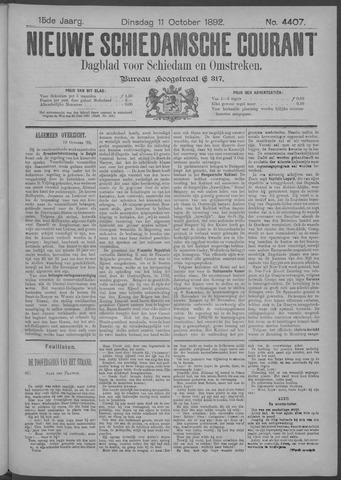 Nieuwe Schiedamsche Courant 1892-10-11