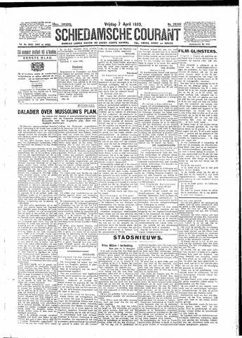 Schiedamsche Courant 1933-04-07