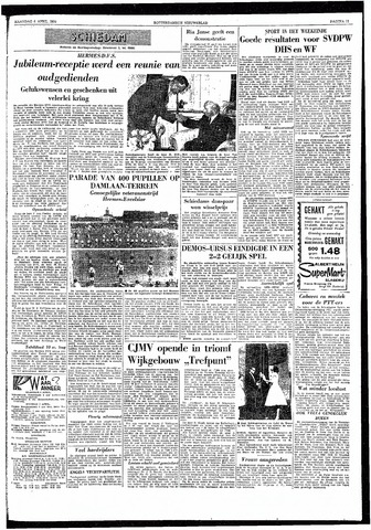 Rotterdamsch Nieuwsblad / Schiedamsche Courant / Rotterdams Dagblad / Waterweg / Algemeen Dagblad 1959-04-06