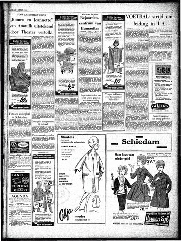 Rotterdamsch Parool / De Schiedammer 1963-04-05