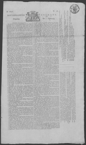 Rotterdamse Courant 1826-02-07