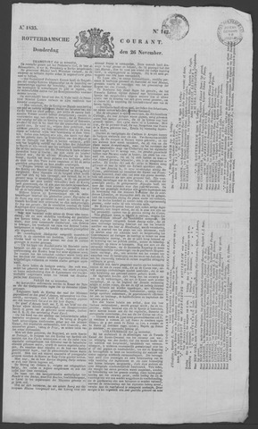 Rotterdamse Courant 1835-11-26
