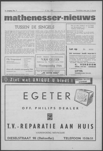 Mathenesser Nieuws 1963-12-31