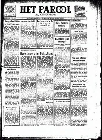 Rotterdamsch Parool / De Schiedammer 1945-07-24