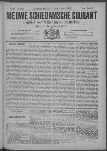 Nieuwe Schiedamsche Courant 1892-11-30