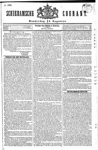 Schiedamsche Courant 1862-08-14