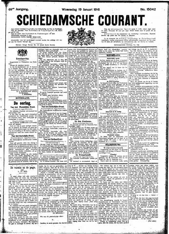 Schiedamsche Courant 1916-01-19