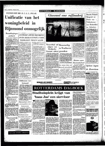 Rotterdamsch Parool / De Schiedammer 1966-12-01