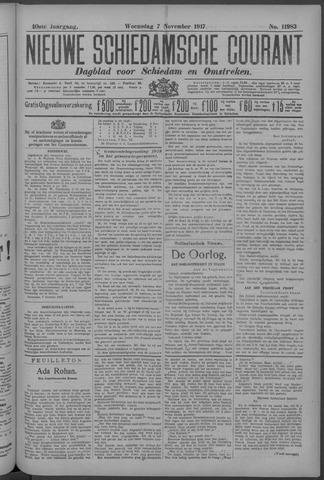 Nieuwe Schiedamsche Courant 1917-11-07