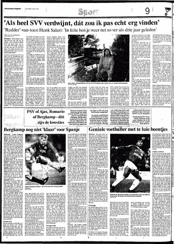 Rotterdamsch Nieuwsblad / Schiedamsche Courant / Rotterdams Dagblad / Waterweg / Algemeen Dagblad 1991-06-15
