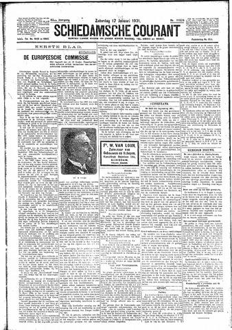 Schiedamsche Courant 1931-01-17