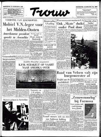 Trouw / De Rotterdammer 1958-08-13