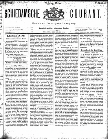 Schiedamsche Courant 1883-07-13